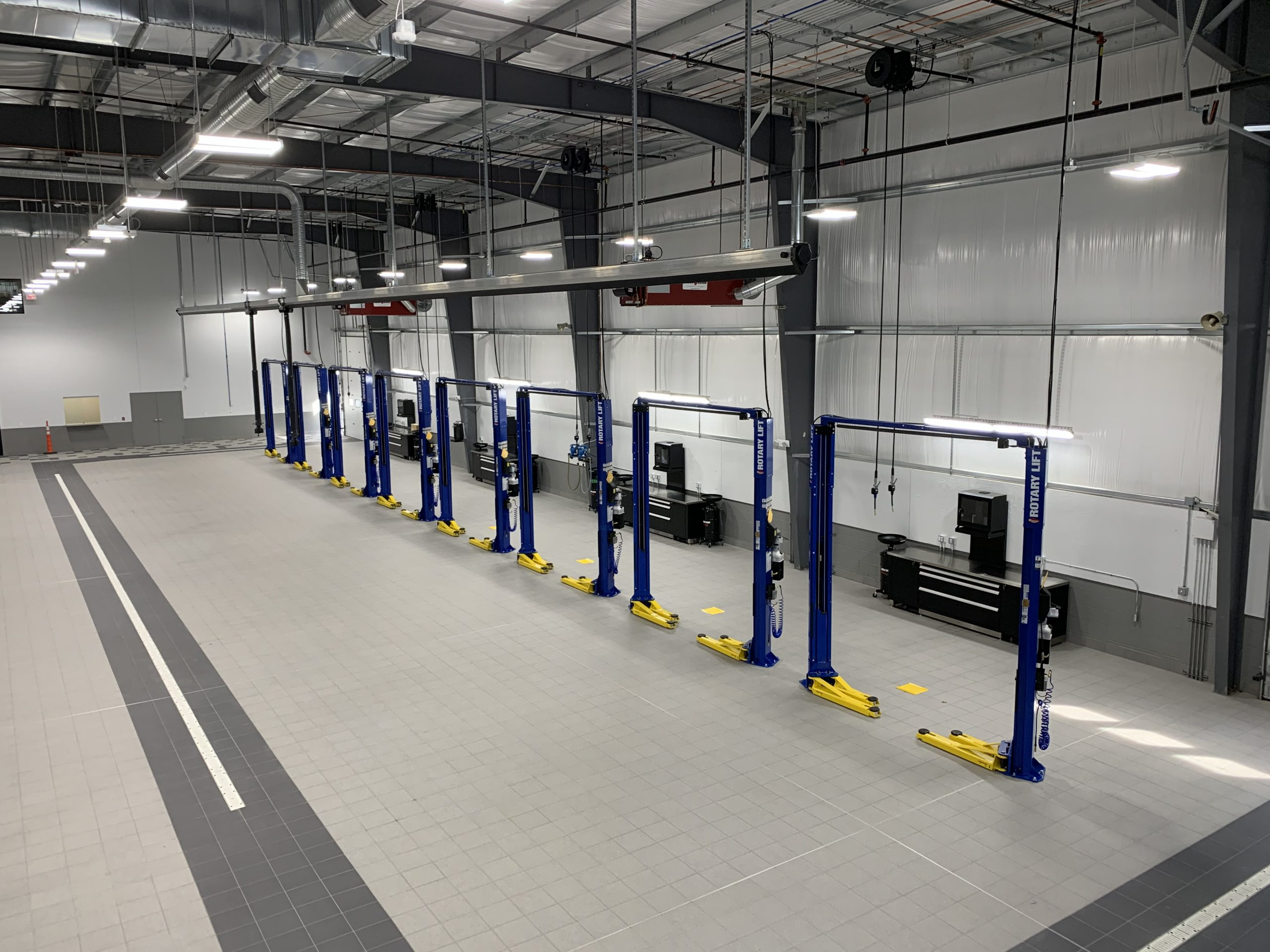 Colonial Mazda Service Bays with Lifts
