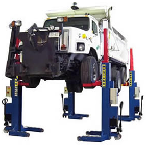 Full rise mobile column truck lifts in Connecticut